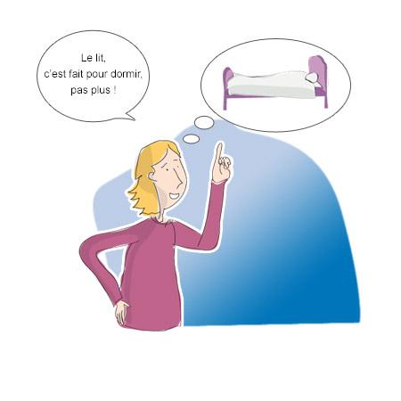Lombalgie - Comportements incompatibles avec le sommeil