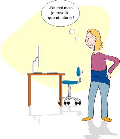 Lombalgie - Activité professionnelle : Activité intacte mais douloureuse