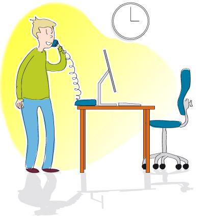 En cas d'assise prolongée - Que faire : Éviter la position assise prolongée